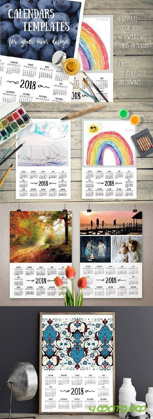 2018 Calendars For Your Own Design 1704316