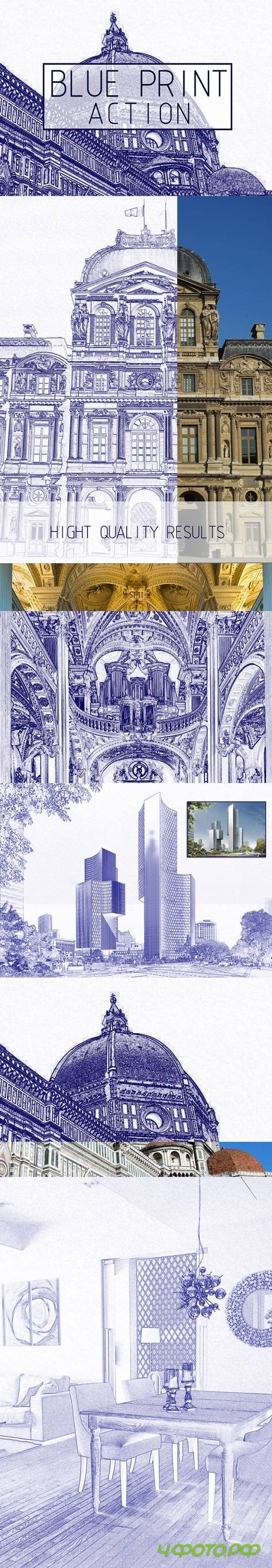 Architectural Sketch Photoshop Action 20448760