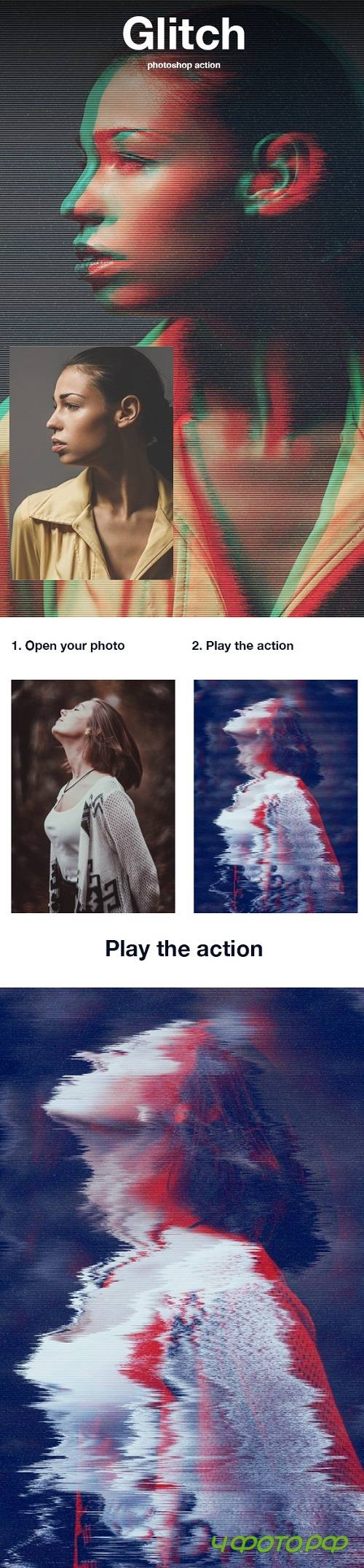 Glitch Photoshop Action | Photo Effects - 20806451
