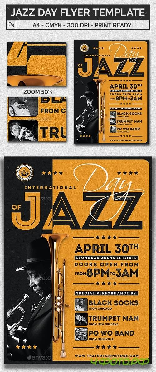 Jazz Day Flyer Template 20967287