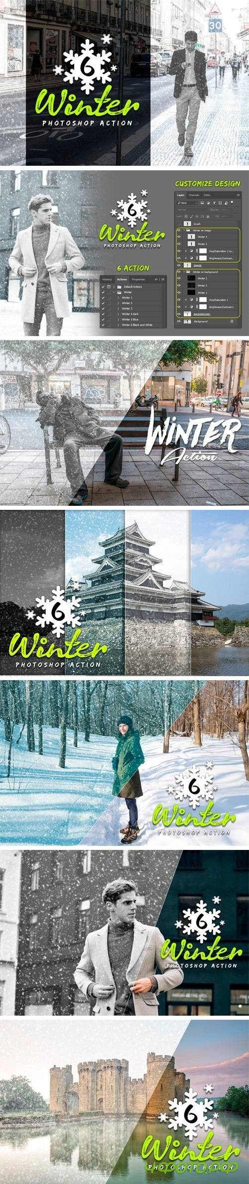 6 Winter Photoshop Action 2054937
