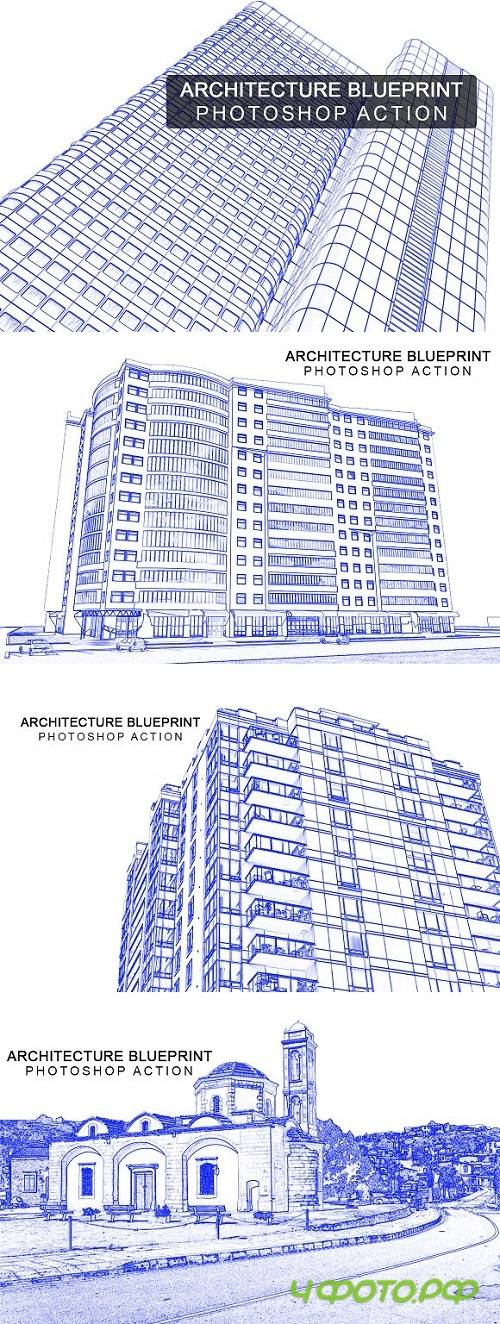 Architecture Blue Print Photoshop ac 2073391