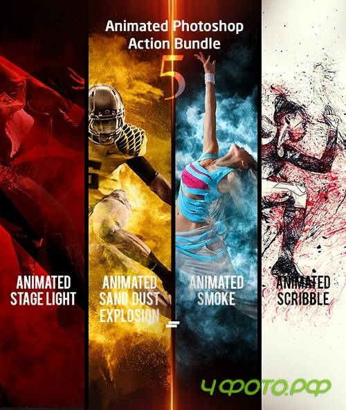 Animated Photoshop Action Bundle 05 - 21480961