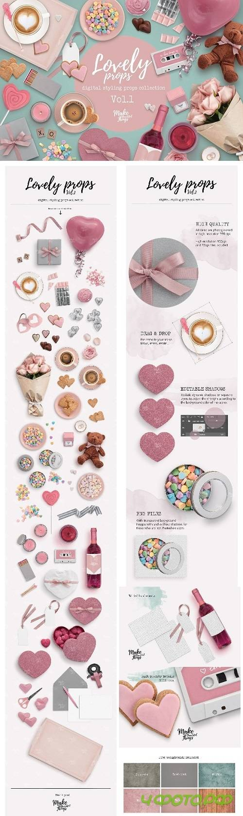 Lovely digital styling props Vol.1 - 2265692