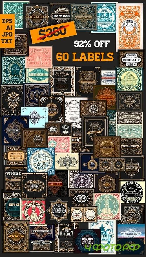 Mega Pack 60 Labels bundle 4 - 1554070