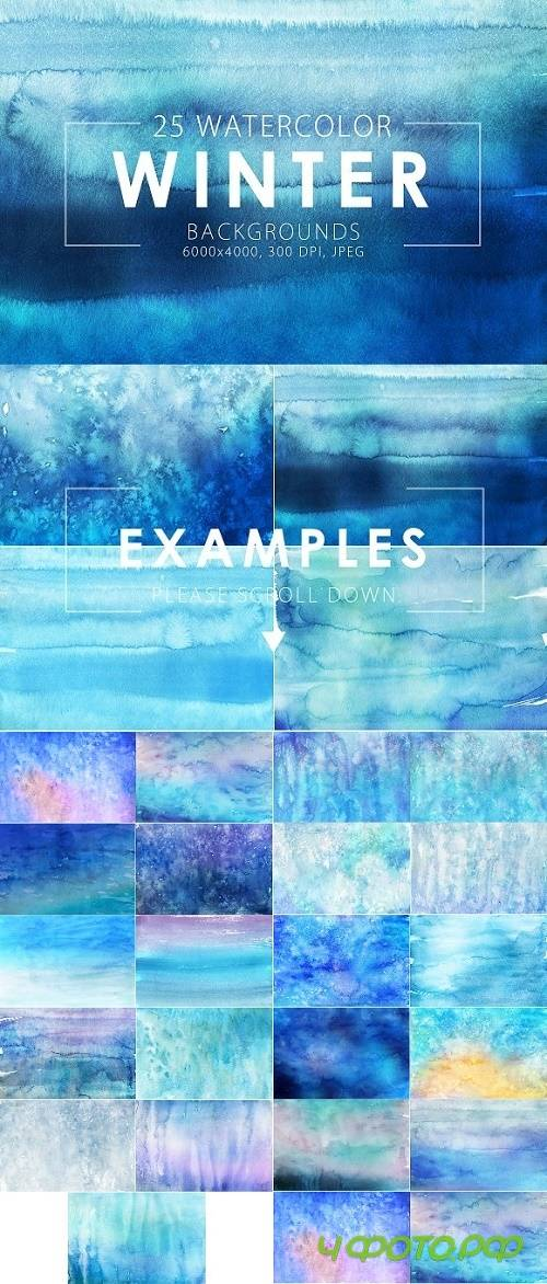Winter Watercolor Backgrounds 418446
