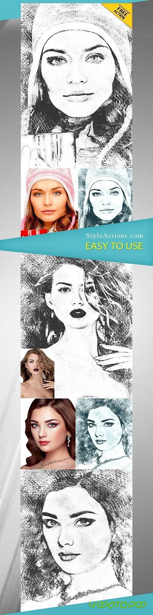 StyleActions - Pencil Sketch Photoshop Action
