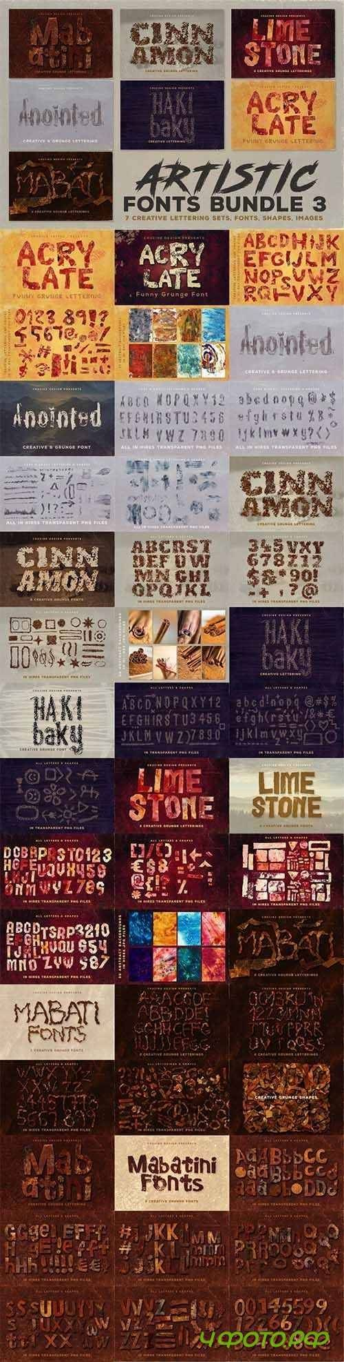 Artistic Fonts Bundle 3 1646604