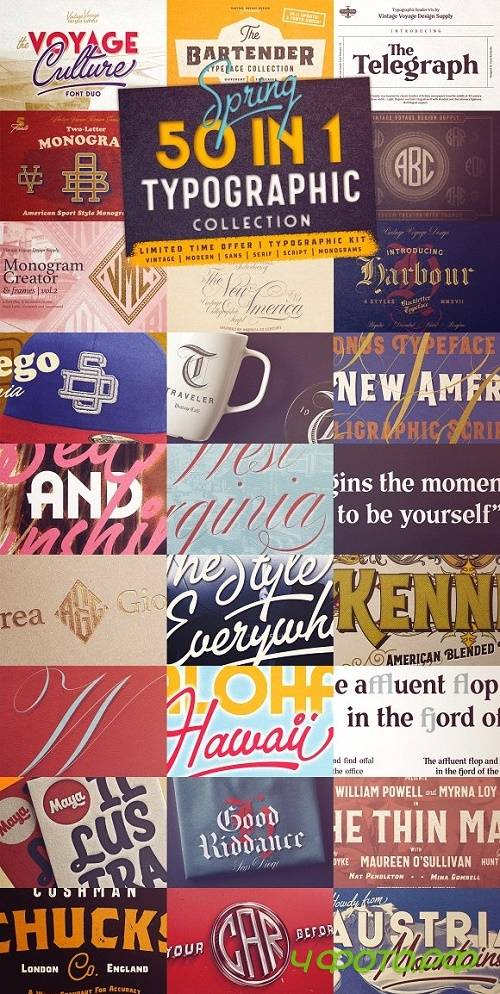 50 in 1 Typographic Collection 2450992