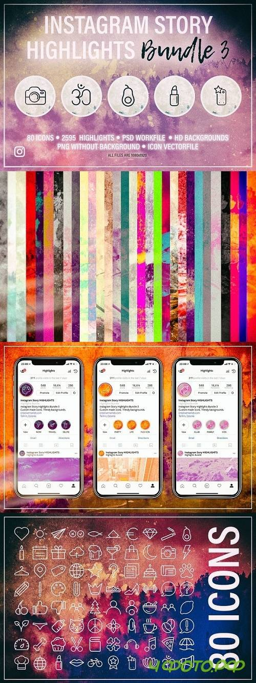Instagram Story HIGHLIGHTS Bundle 3 - 2338128