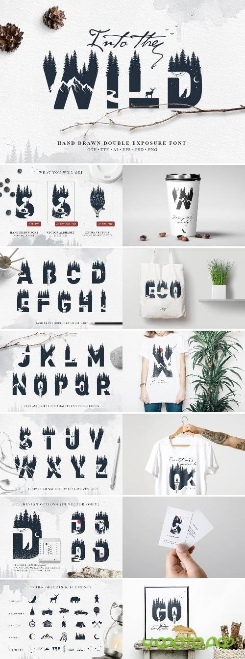 Into The Wild - Double Exposure Font 2455037