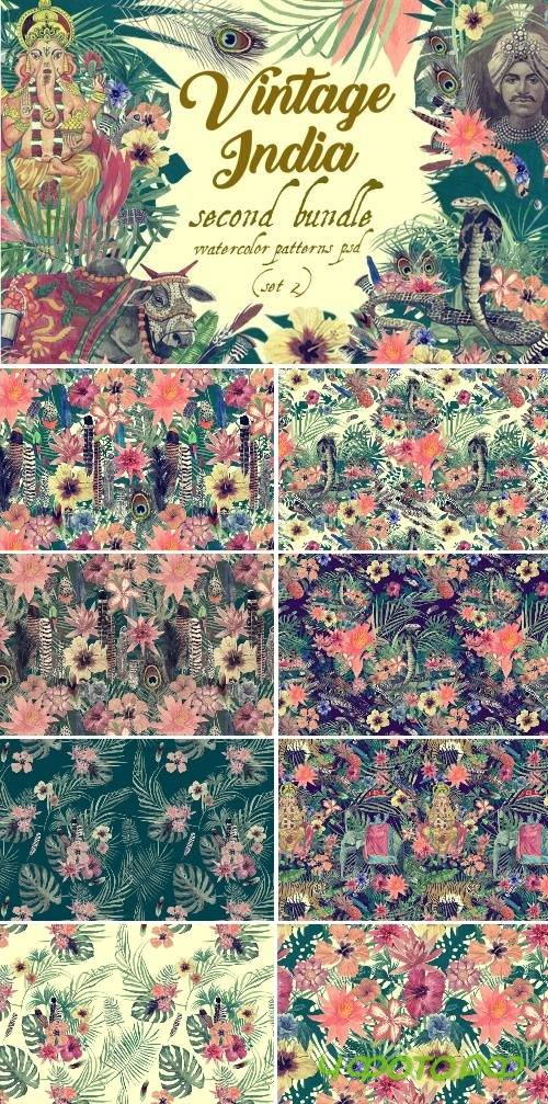 Vintage India 2. Pattens psd. Set 2 - 2485039
