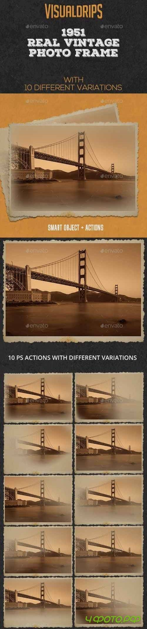 1951 Vintage Frame Photoshop Template 21954083