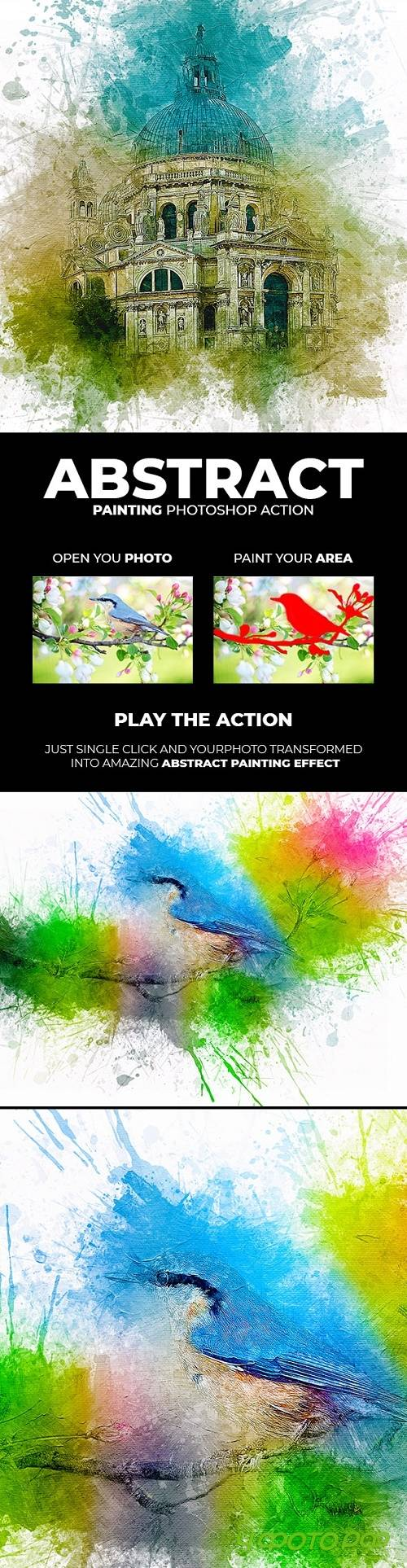 Abstract Painting Photoshop Action 21714322
