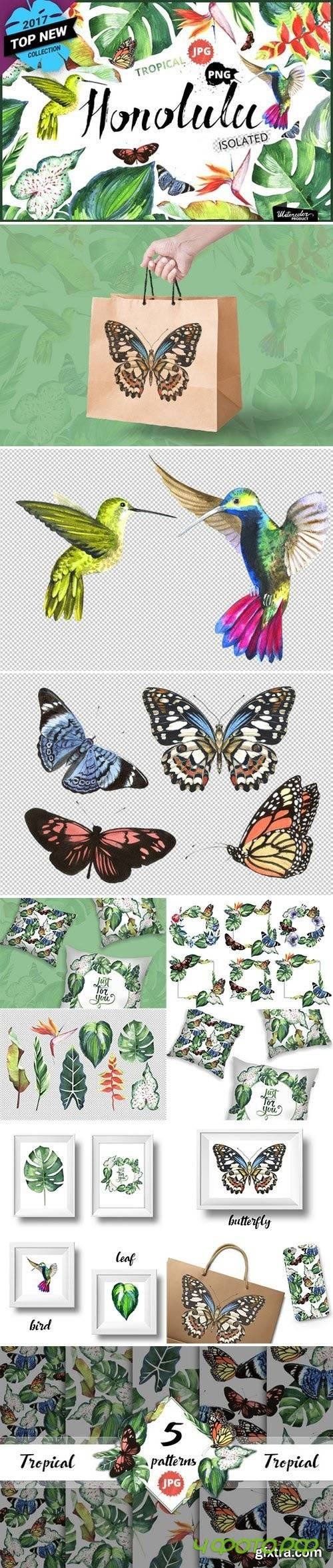 Tropical clipart PNG watercolor - 1151961