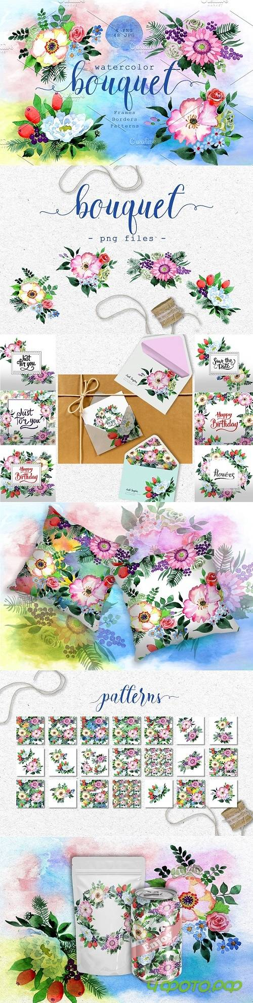 Four wonderful bouquet flowers PNG - 2891479
