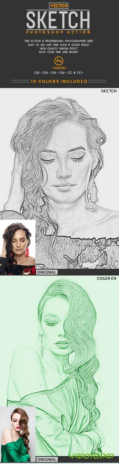 Vector Sketch Photoshop Action 22569551