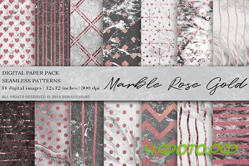 Marble Rose Gold Digital Paper - 2344898