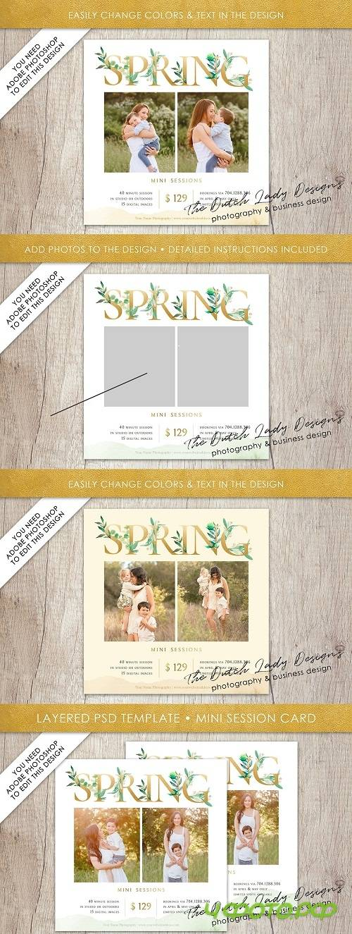 PSD Photo Session Card Template #40 - 3583111