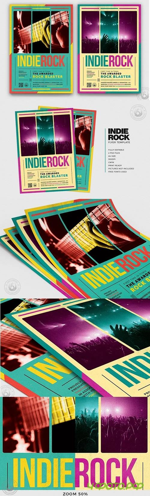 Indie Rock Flyer Template V2 - 3604771