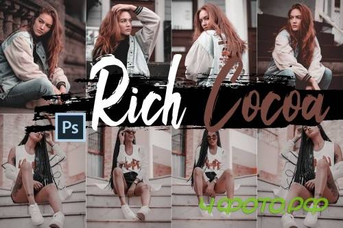 Neo Rich Cocoa Theme Color Grading photoshop actions - 244078
