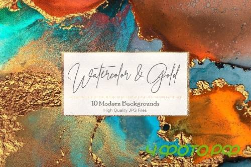 Watercolor Gold Textures - 2465472