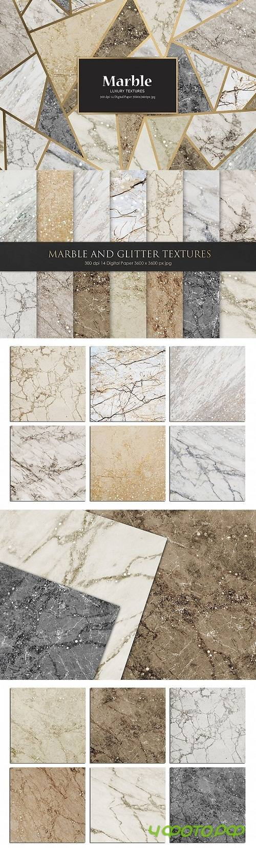 Marble and Glitter Textures, Backgrounds - 177120