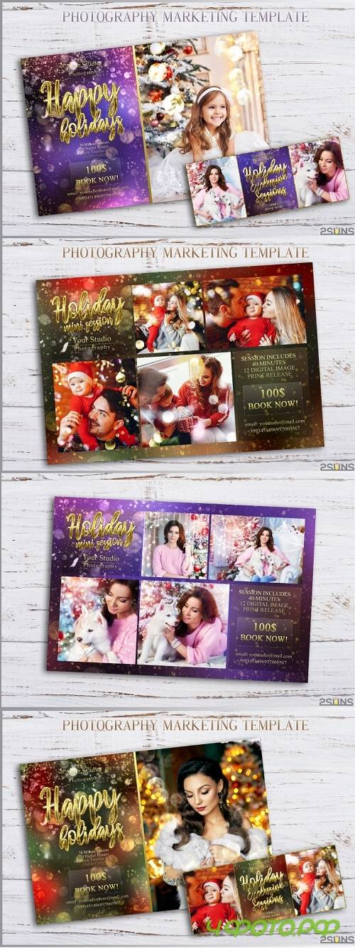 Christmas Mini Session Template Facebook timeline - 268708