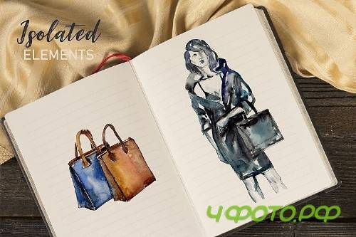 "Fashionable collection ""Super Style"" Watercolor png - 277830"