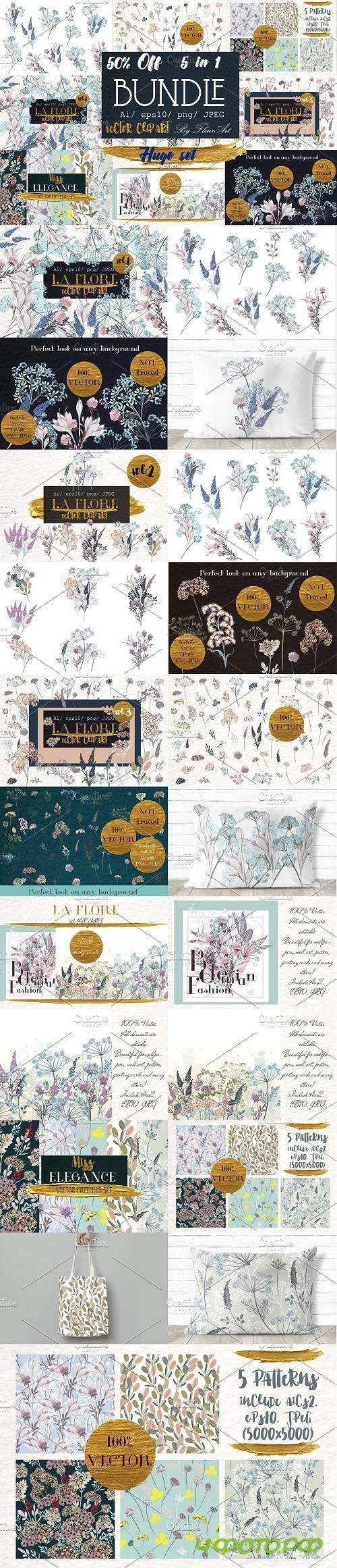 Flora Huge illustration bundle - 2988387