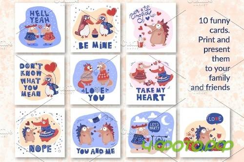 Crazy Love - Valentine Cartoon Animal Bundle - 3342044