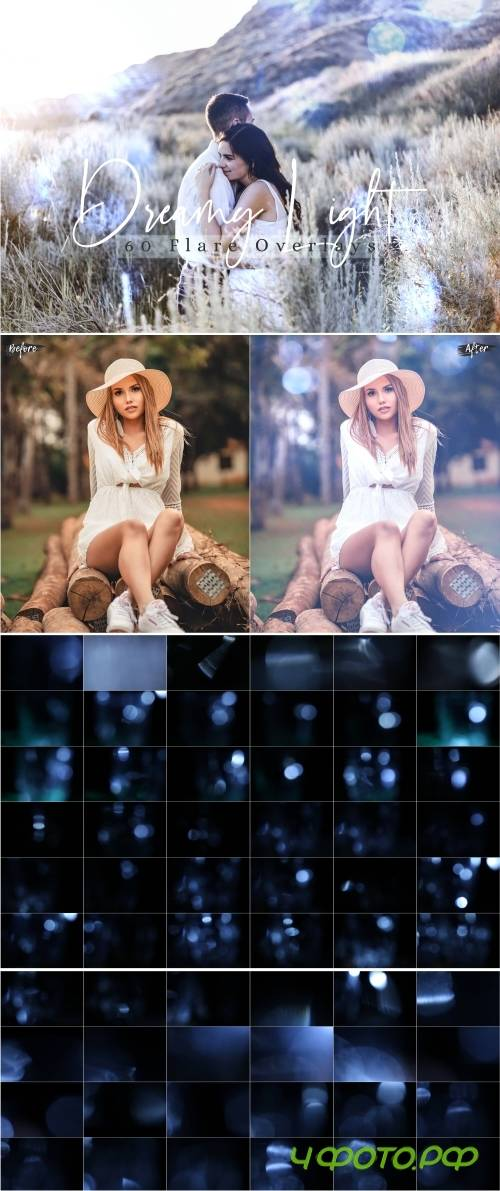 60 Dreamy lights Effect Photo Overlays - 377230
