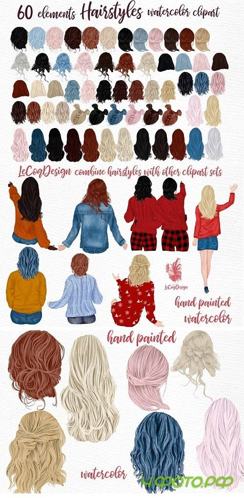 Hairstyles clipart, Girls Hairstyles - 4374531