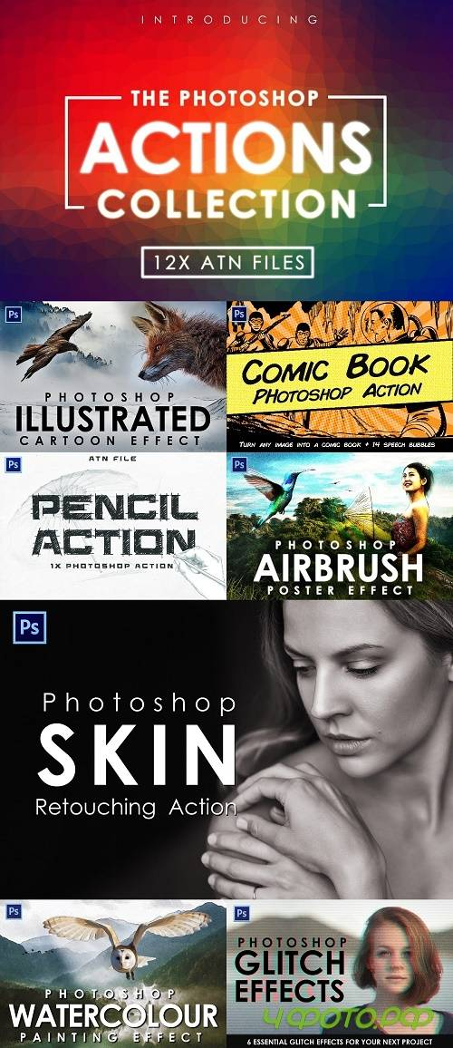 Photoshop Actions Collection - 4416166