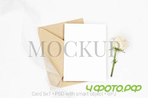Mockup card with envelope - 419491