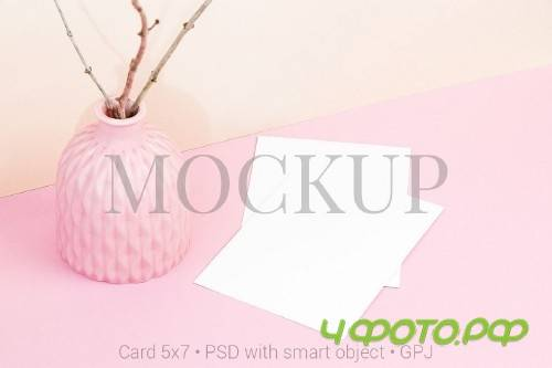 Card mockup with bowl - 418796