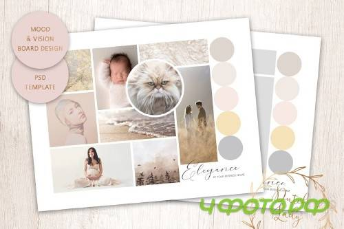 PSD Mood & Vision Board Template #10 - 4430689