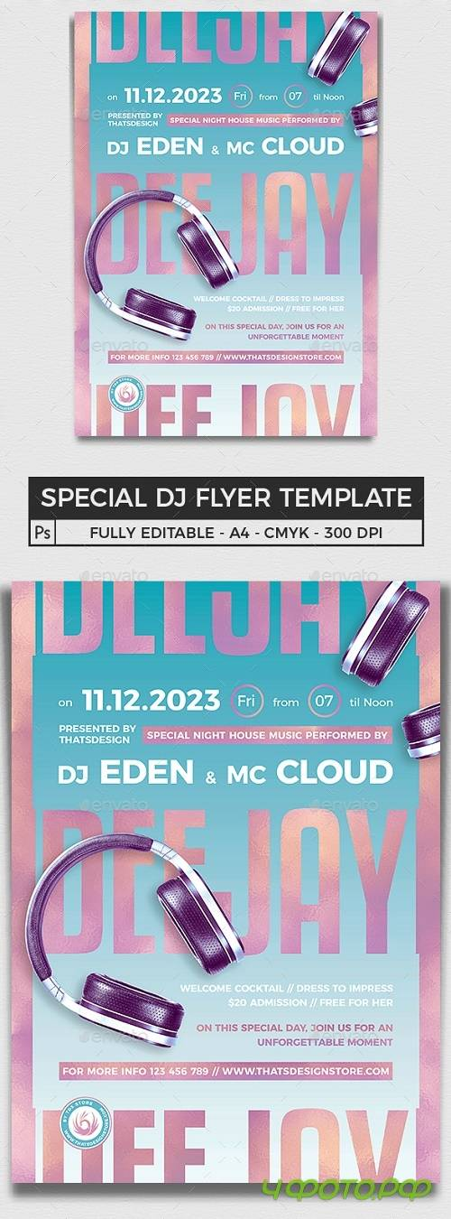 Special Dj Flyer Template V6 - 25726226 - 4563793