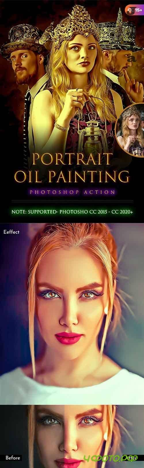 Portrait Oil Painting Action 28368558