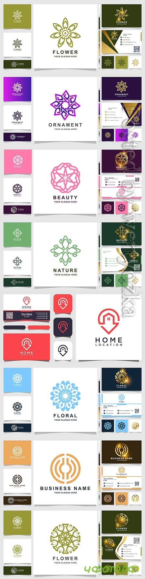 Vector logo and business card