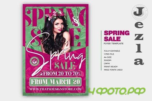 Spring Sale Flyer Template - 5918485