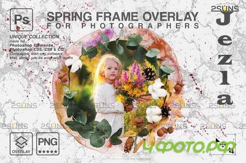 Spring flower digital frames overlay Easter - 1224270