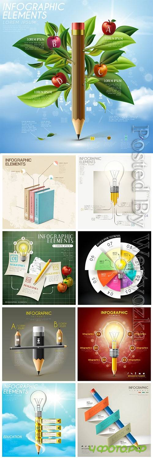 Infographic template concept vector design vol 3